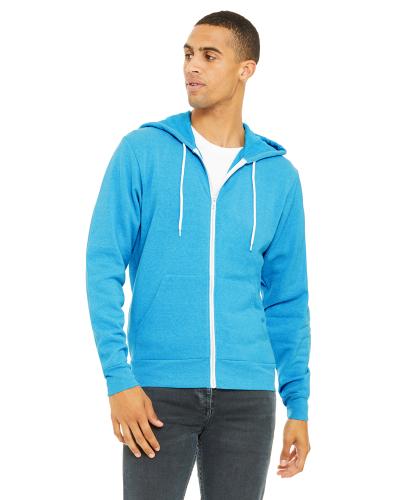 Unisex Poly-Cotton Fleece Full-Zip Hoodie