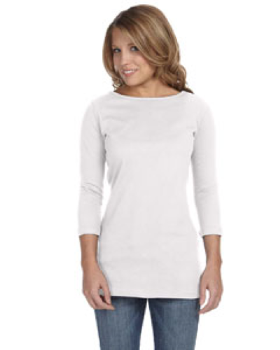 Ladies' Jersey Half-Sleeve Boatneck T-Shirt