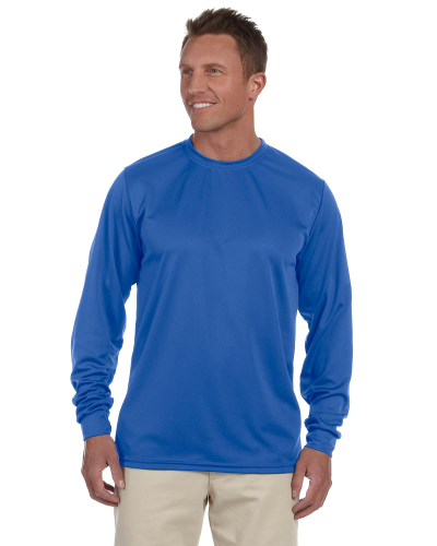 100% Polyester Moisture-Wicking Long-Sleeve T-Shirt