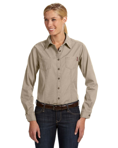 Ladies' Long-Sleeve Mortar Workshirt